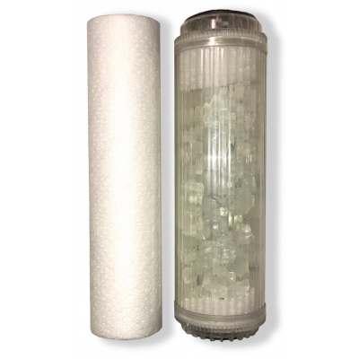 Cartouches traitement d'eau 9''3/4 10'' combine antitartre filtration polyphosphate - LOT 2 CARTOUCHES TWIN-FILTRE